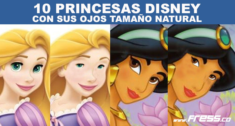 10 princesas Disney con un tamaño de ojos normal